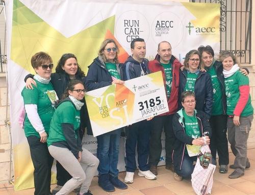 Más de 600 personas marchan contra el cáncer en Jarafuel