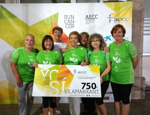 Vilamarxant marcha 9 kilómetros contra el cáncer