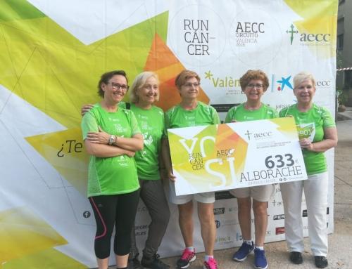 La marcha contra el cáncer de Alborache suma más de 600€