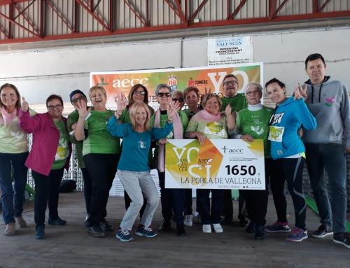 La Pobla de Vallbona se mueve contra el cáncer y suma 1.650€