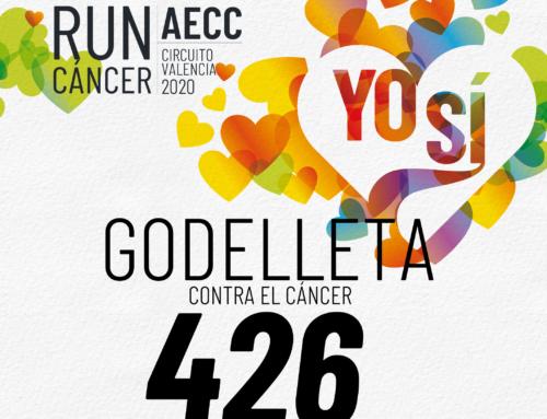 Cerca de 200 pisadas solidarias suman contra el cáncer en Godelleta