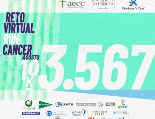 El reto virtual #RunCáncer se despide con un 10K y más de 3.500€ de recaudación