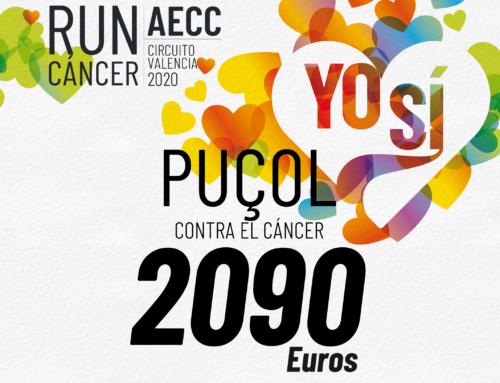 Puçol recauda más de 2.000 euros para luchar contra el cáncer
