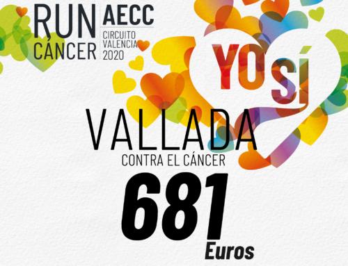 Los dorsales solidarios en Vallada suman cerca de 700 euros