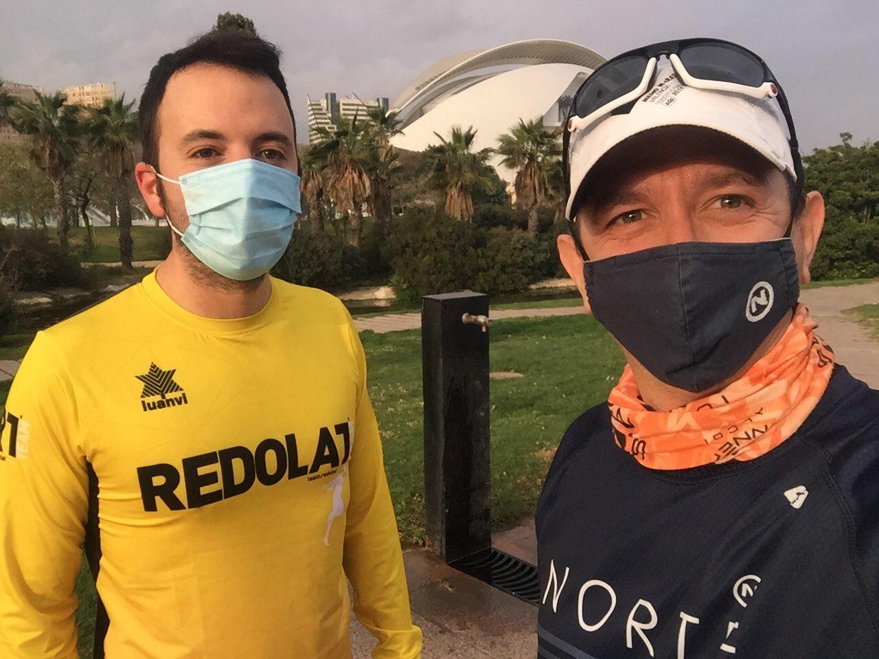 Miguel Girón y Carlos Bonías, corredores