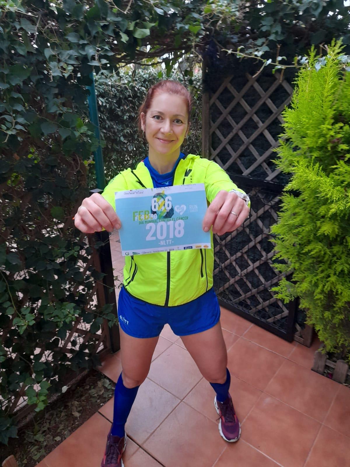 Natacha López, Embajadora del reto de febrero