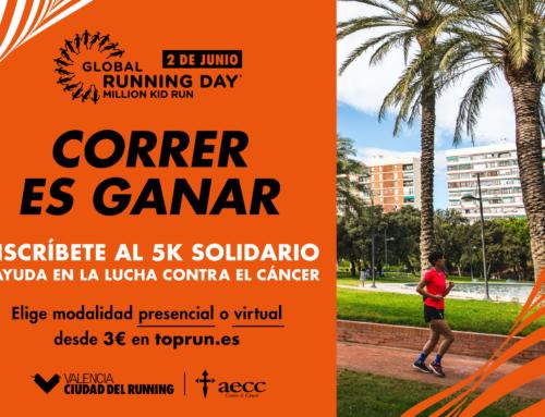 Valencia Ciudad del Running y AECC Valencia unen fuerzas por un Global Running Day 100% solidario contra el cáncer