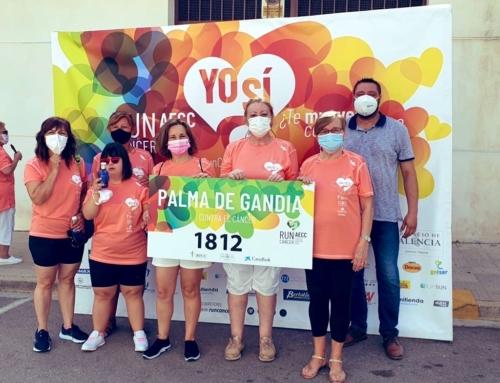Cerca de 500 personas marchan contra el cáncer en Palma de Gandia